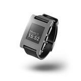 smartwatch lokalisiert auf Weiß Stockbild