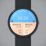 Smartwatch mockup - weather Stock Photography