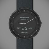 Smartwatch mockup - weather Royalty Free Stock Photography
