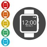 Smartwatch symbol, Smart Watch icon Royalty Free Stock Photos