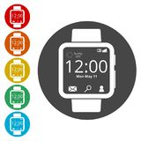 Smartwatch symbol, Smart Watch icon Royalty Free Stock Images