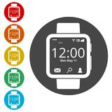 Smartwatch symbol, Smart Watch icon Royalty Free Stock Photo