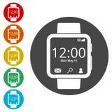 Smartwatch symbol, Smart Watch icon Stock Photos