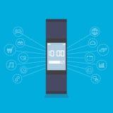 Smartwatch wearable technology device Stock Photo