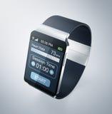 Smartwatch y aptitud Imágenes de archivo libres de regalías