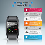 Smartwatchpictogram Abstracte infographic royalty-vrije illustratie