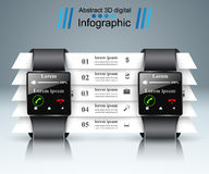 Smartwatchpictogram Abstracte infographic stock illustratie