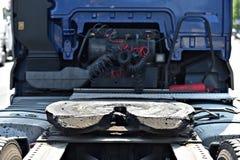 Smarujący ciężarowy sprzęgający mechanizm fotografia royalty free