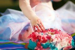 Smash cake stock images