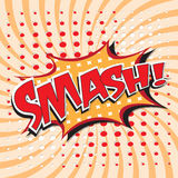 SMASH! comic word Stock Photo