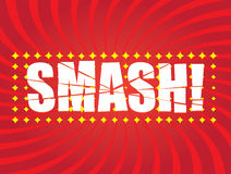 SMASH! comic word Royalty Free Stock Photography