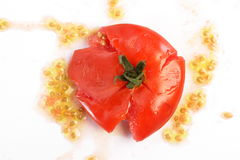 Smash Tomato. Risk to be smash stock image
