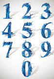 Smash vector numbers. Royalty Free Stock Images
