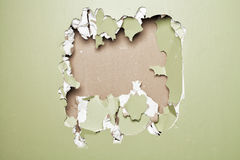 Smash wall green background Stock Photo
