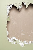 Smash wall green background Royalty Free Stock Photos