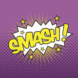 SMASH! Wording Sound Effect. For comic speech bubble Royalty Free Stock Image