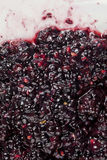 Smashed blackberry fruits. Image of smashed blackberry fruits Royalty Free Stock Photos