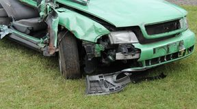 Smashed Body of a Car. Stock Photos