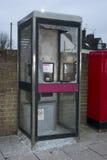 Smashed Broken Phone Box in Wokingham Stock Photography