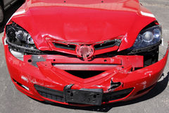 Smashed car Royalty Free Stock Photos