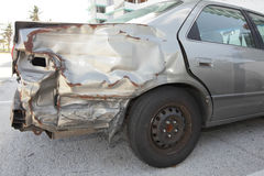 Smashed car Royalty Free Stock Photography