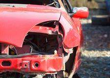 Smashed car Stock Photo