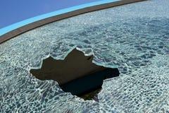 Smashed car window Stock Images