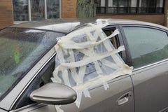 Smashed car window Stock Photos