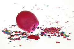 Smashed Confetti Egg Royalty Free Stock Photos