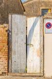 Smashed door Stock Image