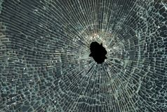 Smashed Glass Stock Photography