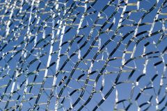Smashed glass pane Royalty Free Stock Photo