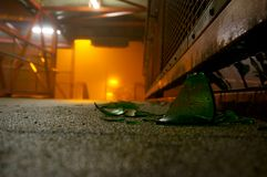 Smashed glass on path A Stock Photography