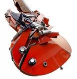 Smashed guitar. Isolated on white Stock Images