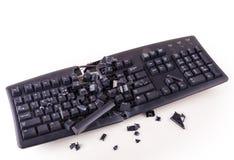 Smashed keyboard Stock Images