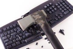 Smashed keyboard Royalty Free Stock Photography