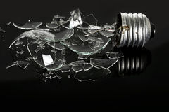 Smashed light bulb Royalty Free Stock Photography