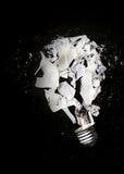 Smashed light bulb Royalty Free Stock Image