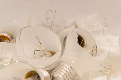 Smashed lightbulbs. This picture shows some smashed lightbulbs Stock Images