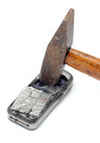 Smashed mobile phone Stock Photography