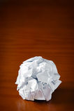 Smashed paper ball Royalty Free Stock Photos