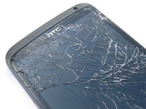Smashed phone screen Stock Photography