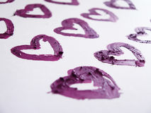 Smashed pink heart shaped Royalty Free Stock Photo