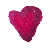 Smashed pink heart shaped Royalty Free Stock Photography