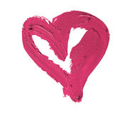 Smashed pink heart shaped Royalty Free Stock Photos