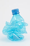 Smashed plastic bottle Stock Images