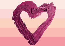 Smashed red heart shaped illustration background. Smashed red heart shape illustration Royalty Free Stock Photography