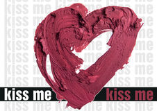 Smashed red heart shaped illustration background. Smashed red heart shape illustration Royalty Free Stock Image
