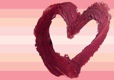 Smashed red heart shaped illustration background. Smashed red heart shape illustration Stock Image