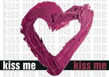 Smashed red heart shaped illustration background. Smashed red heart shape illustration Royalty Free Stock Photo